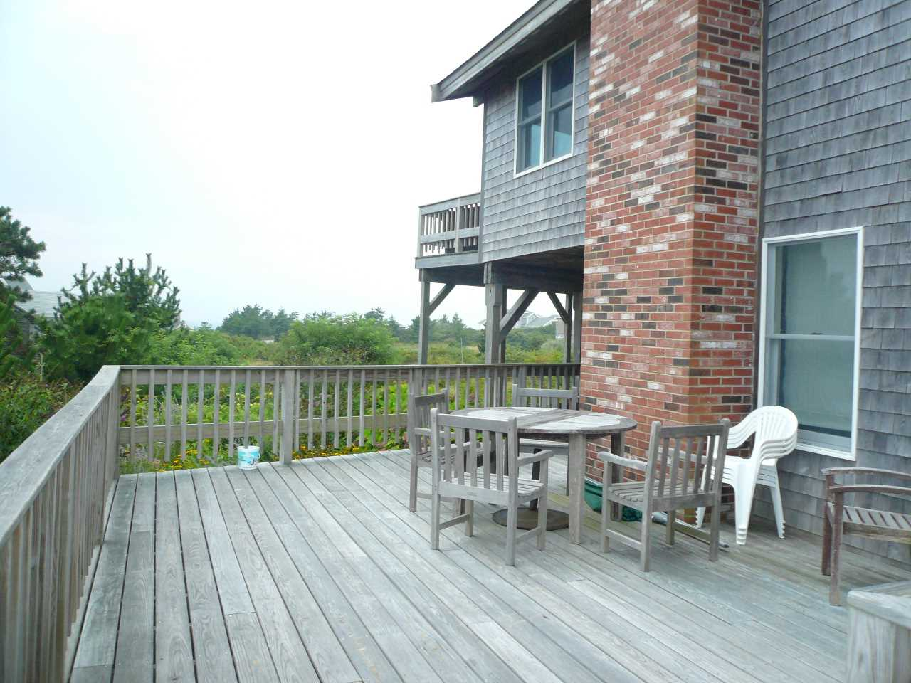 First floor deck