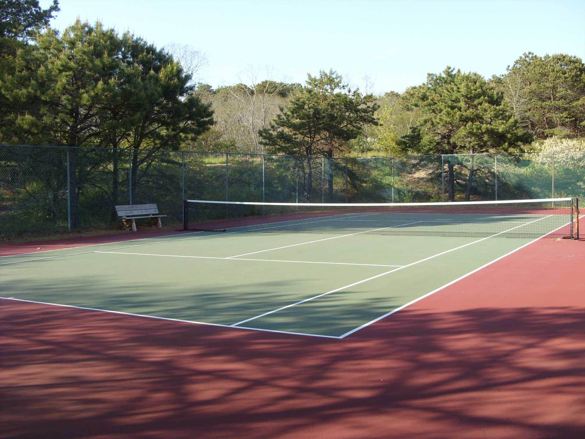 Shared tennis court