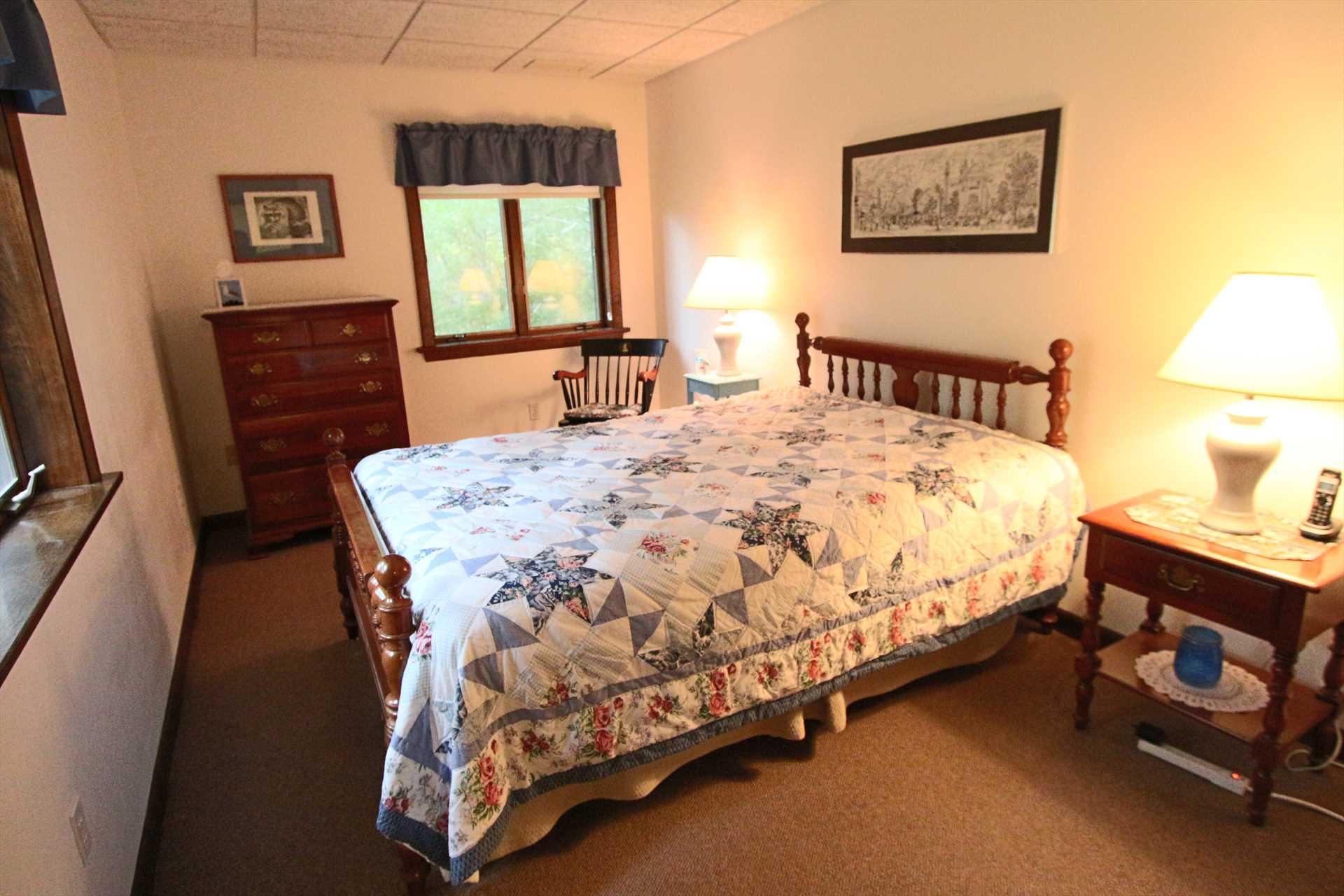 Bedroom #4-   1 Queen- Lower Level