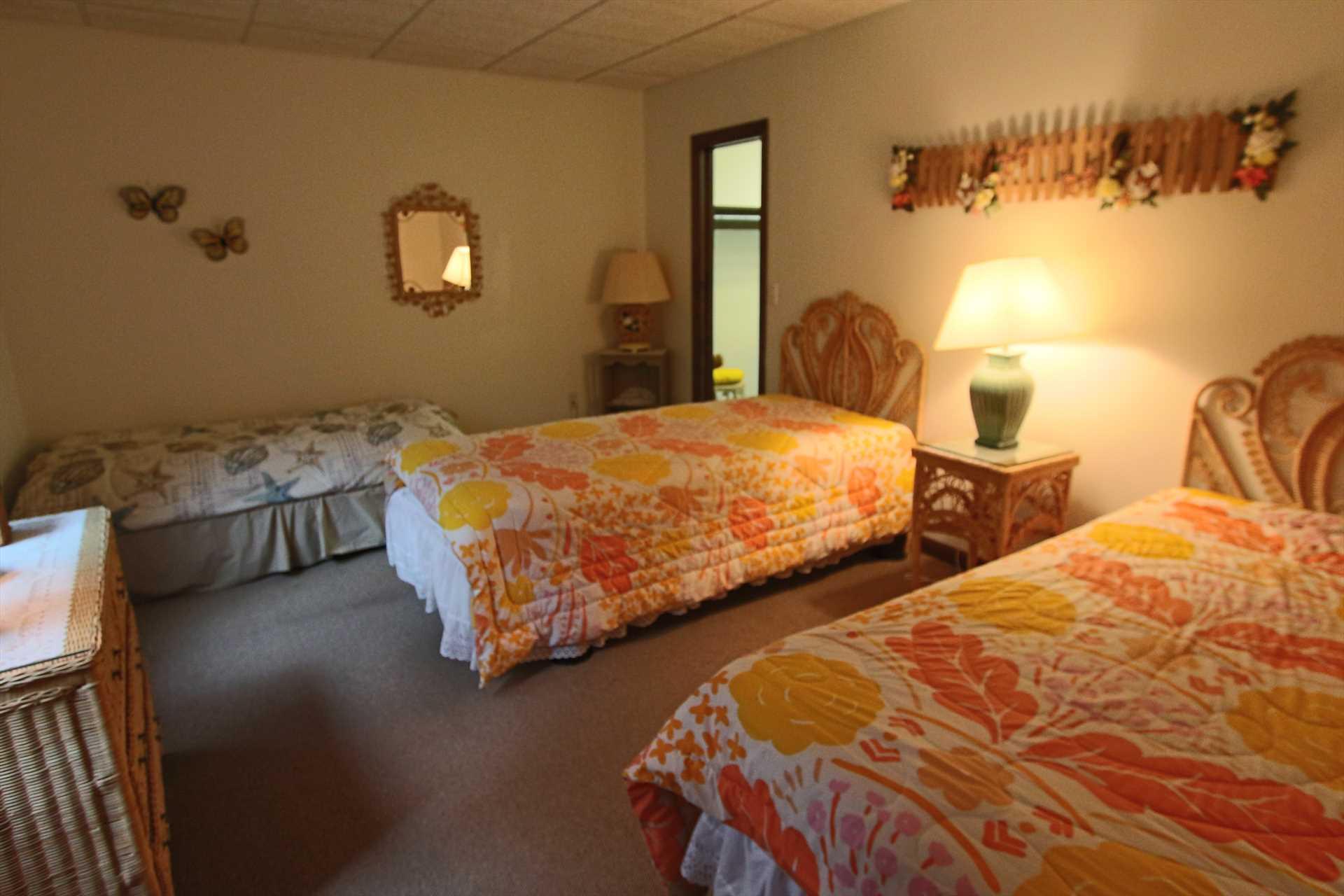 Bedroom #2-   3 Twin- Lower Leve