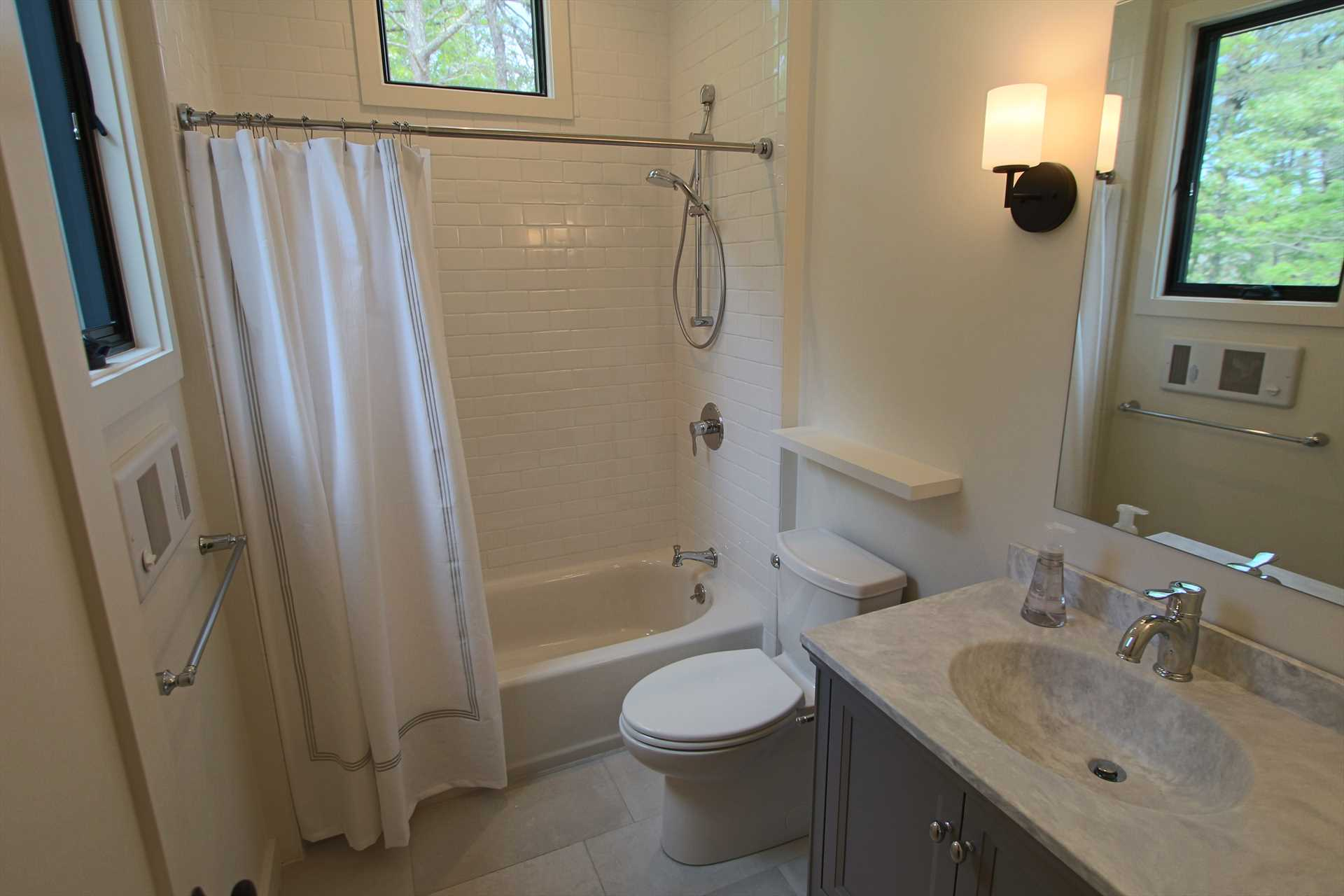 Bathroom Upstairs with Tub and Shower