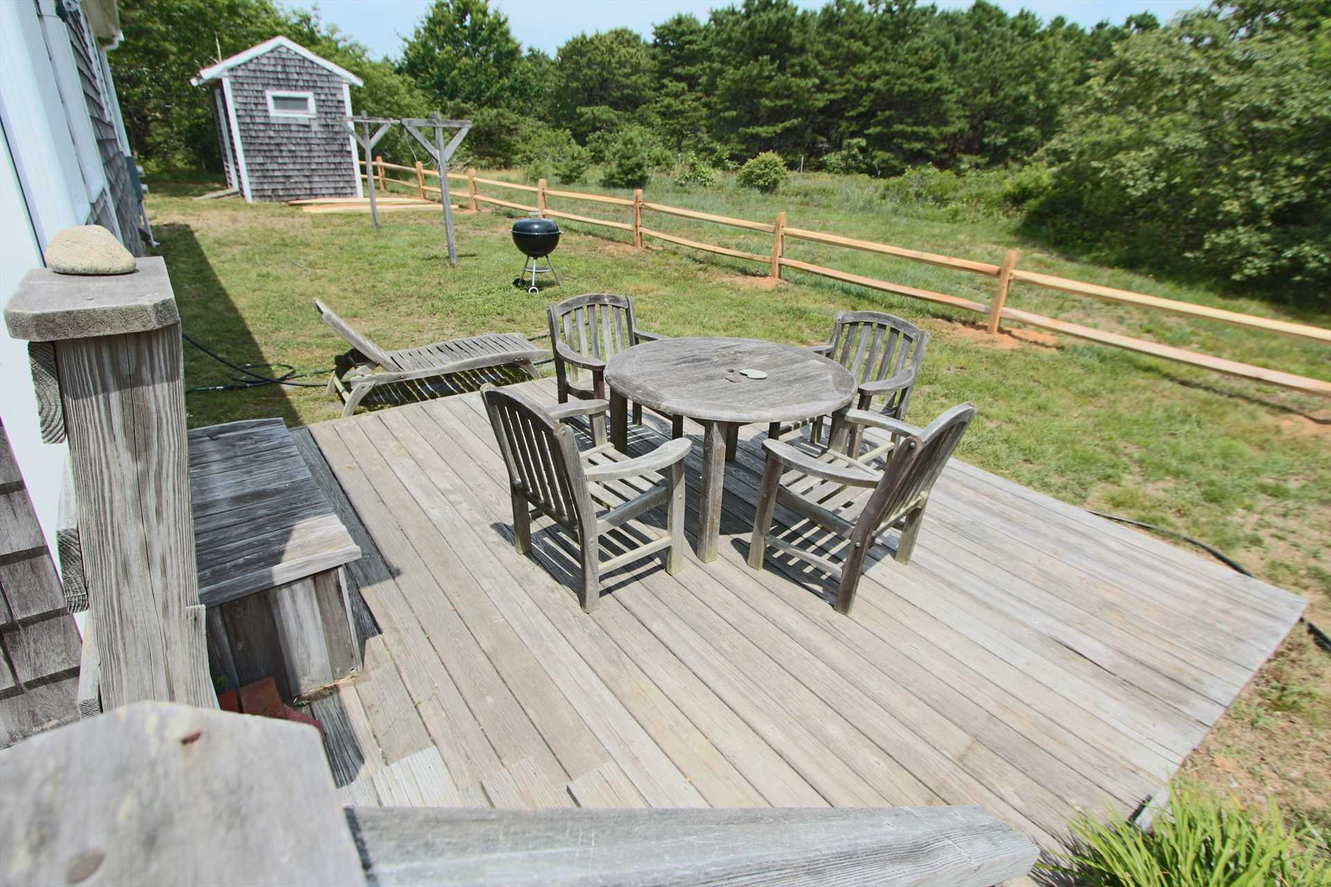 Deck out back
