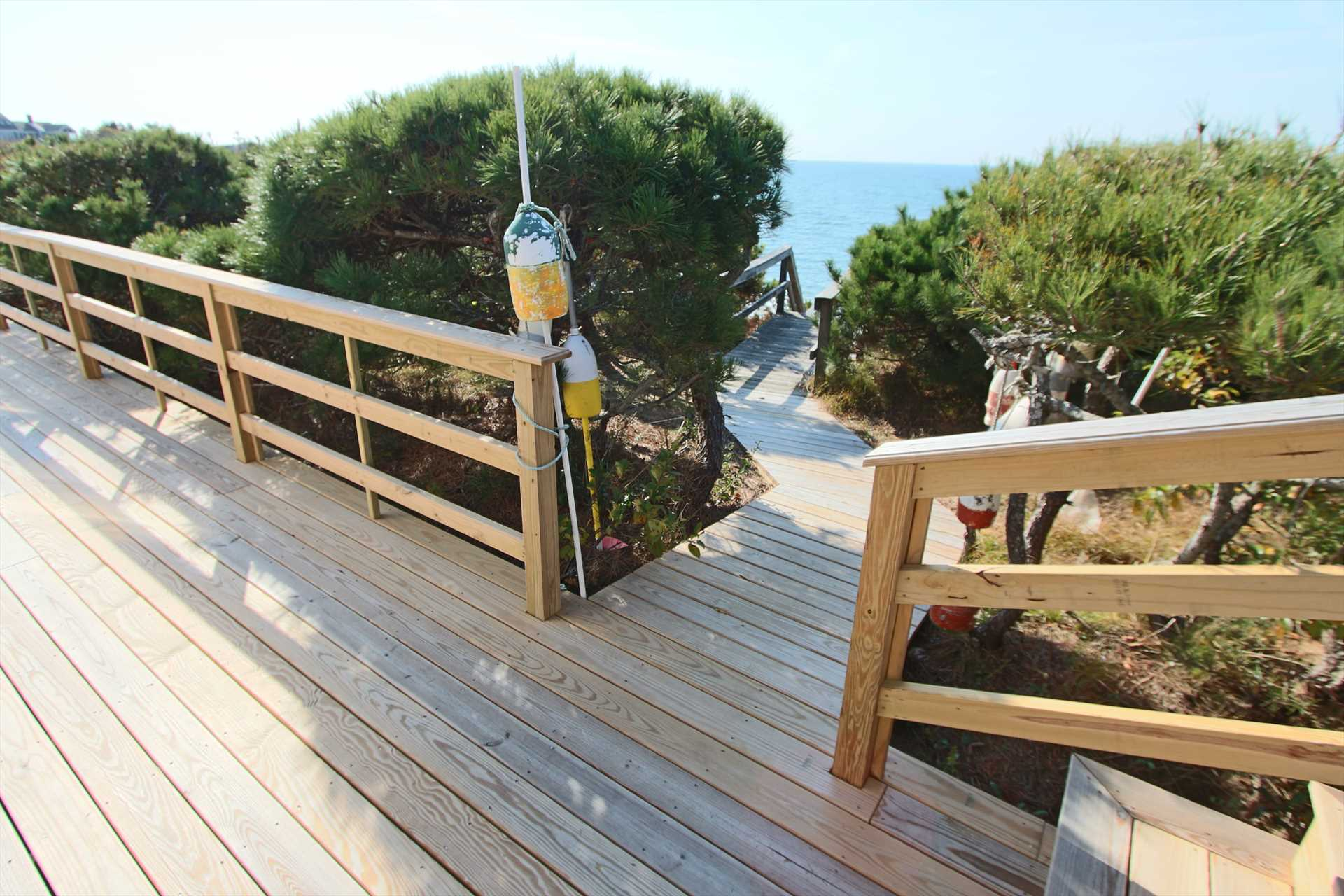 Access to Beach stairs