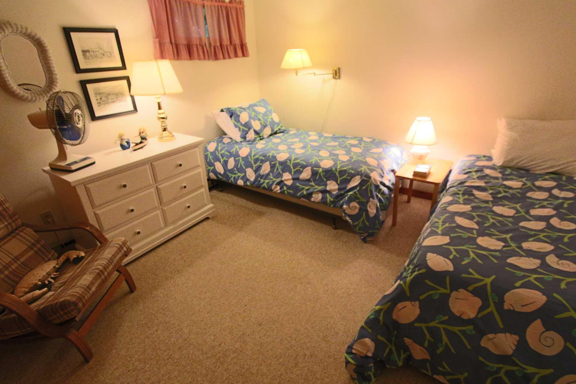 Bedroom #4-   2 Twin- Lower Level