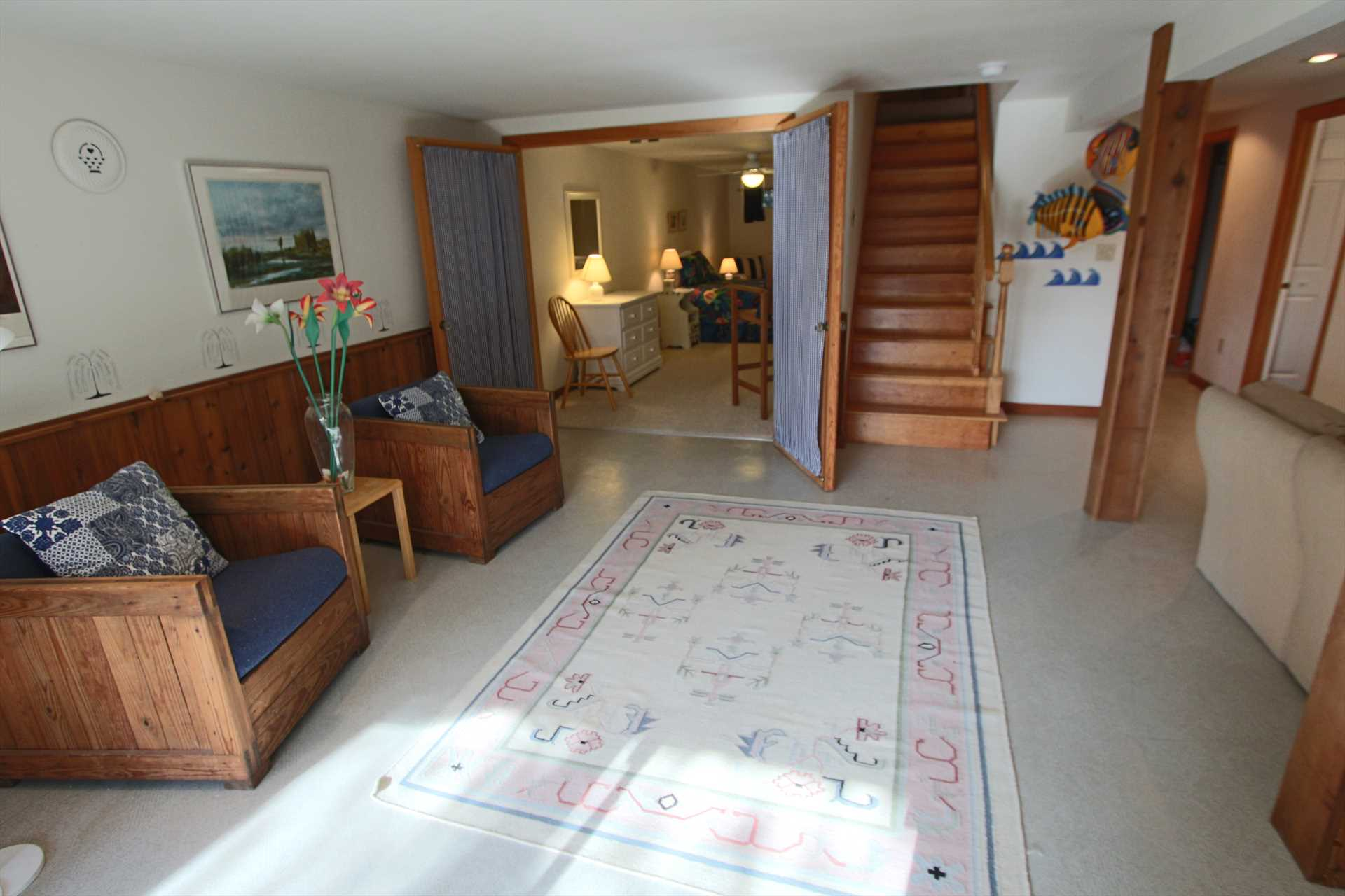 Sitting Area in Lower Level leading to Bedroom
