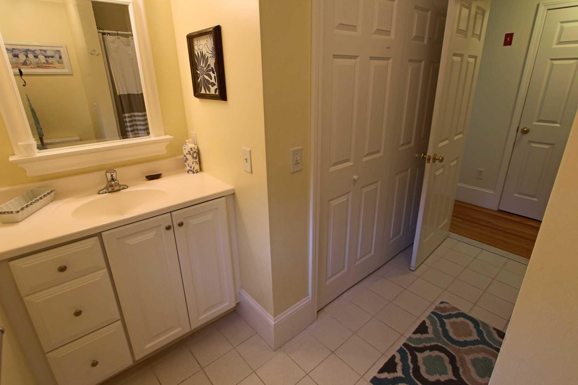 Bathroom #1 - 1st Floor - Washer/Dryer in Closet