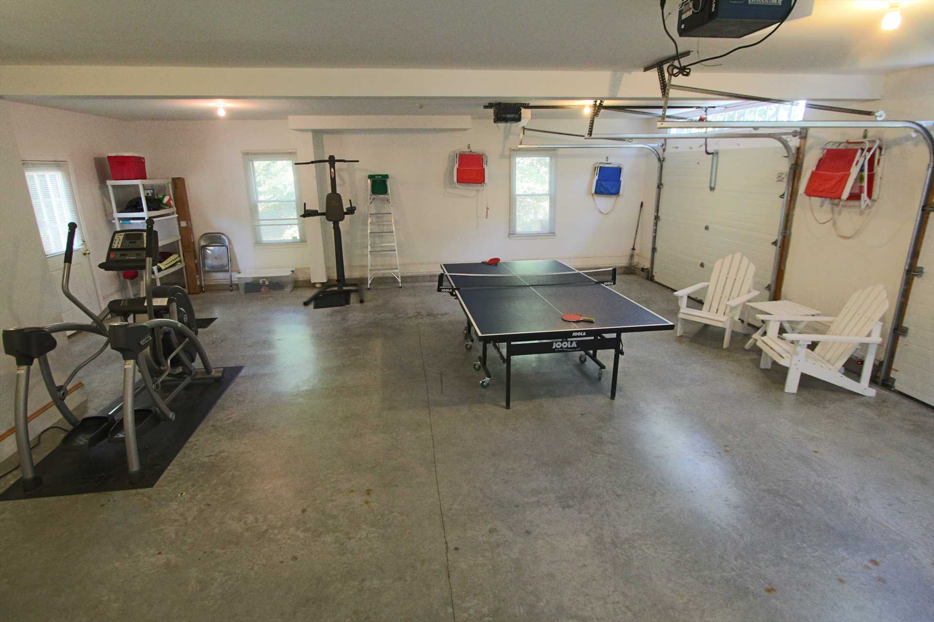 Garage with Ping Pong - Access to Studio Above Garage