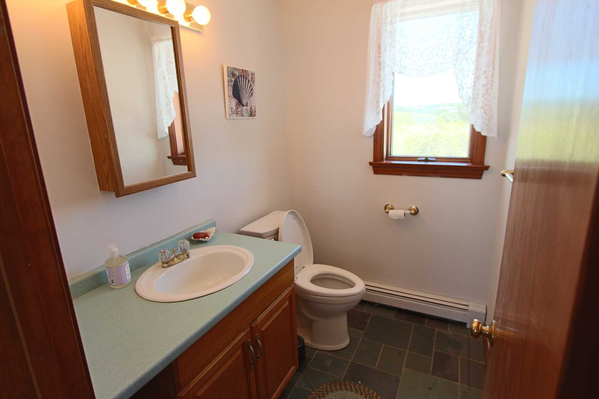 Half Bathroom off the Kitchen/ Living Room
