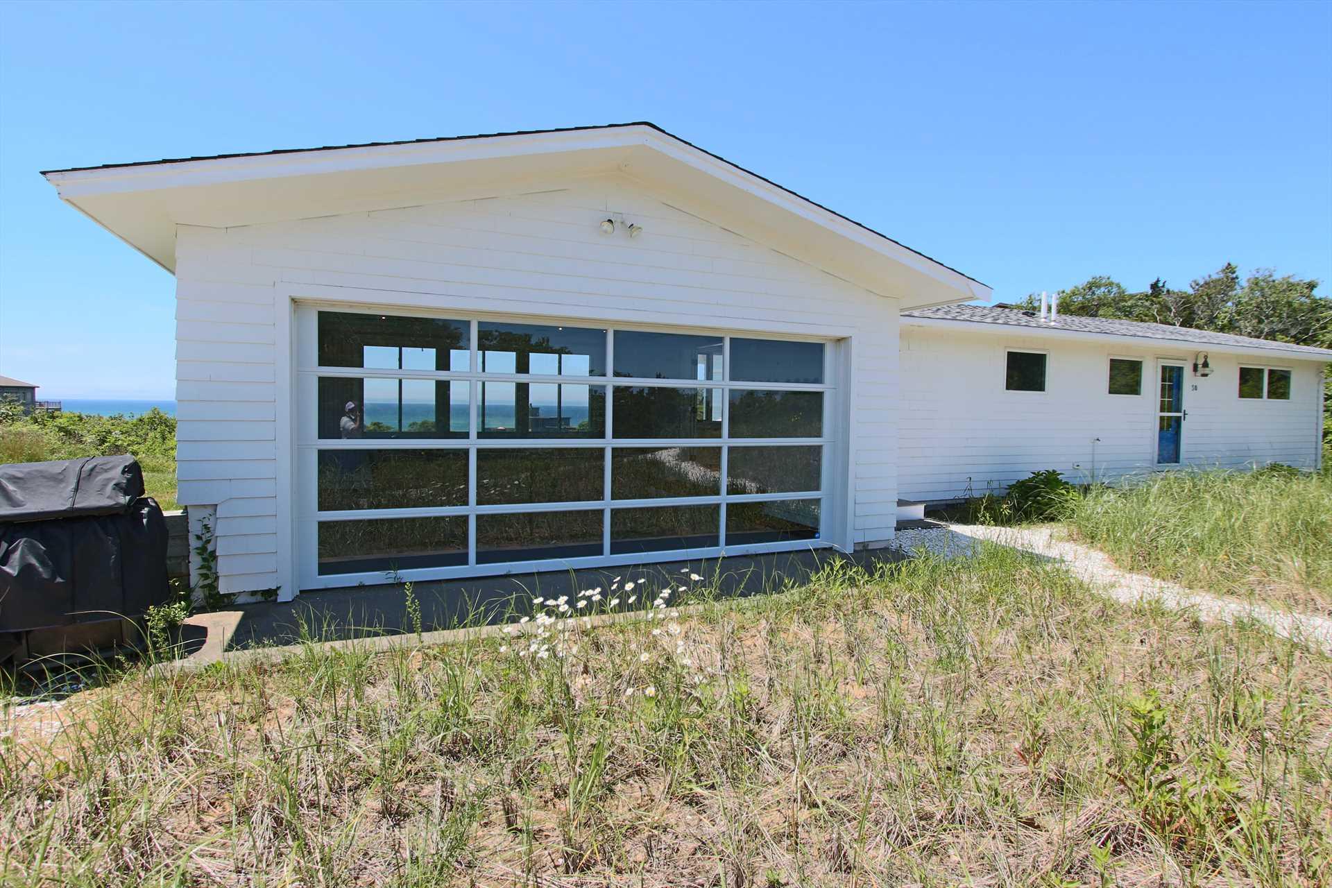 Garage Door in Porch opens for Indoor/Outdoor Feel