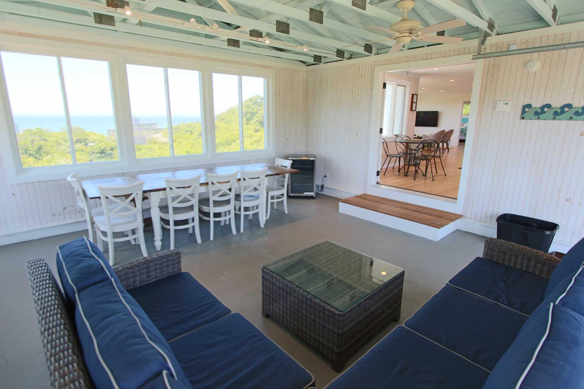 Three Season Porch with Views of Cape Cod Bay