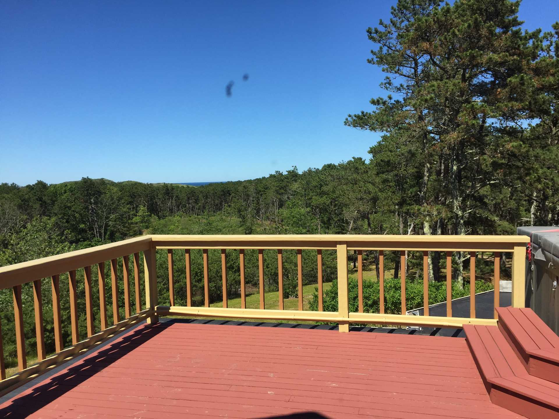 Second floor deck with view