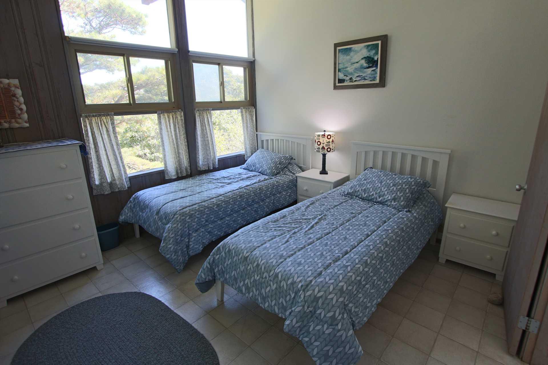 Bedroom # 3 - Extra Long Twin Beds - 1st Floor
