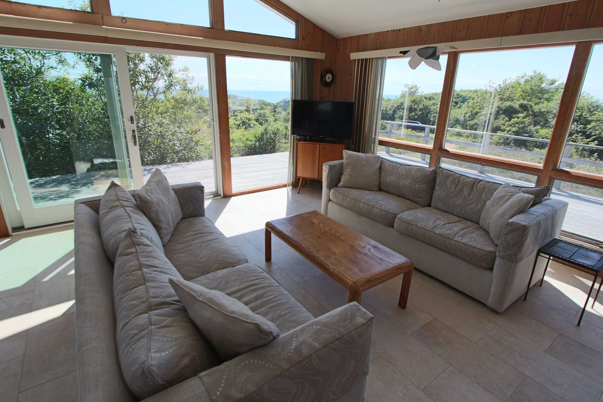 Living Area with Water View of Cape Cod Bay