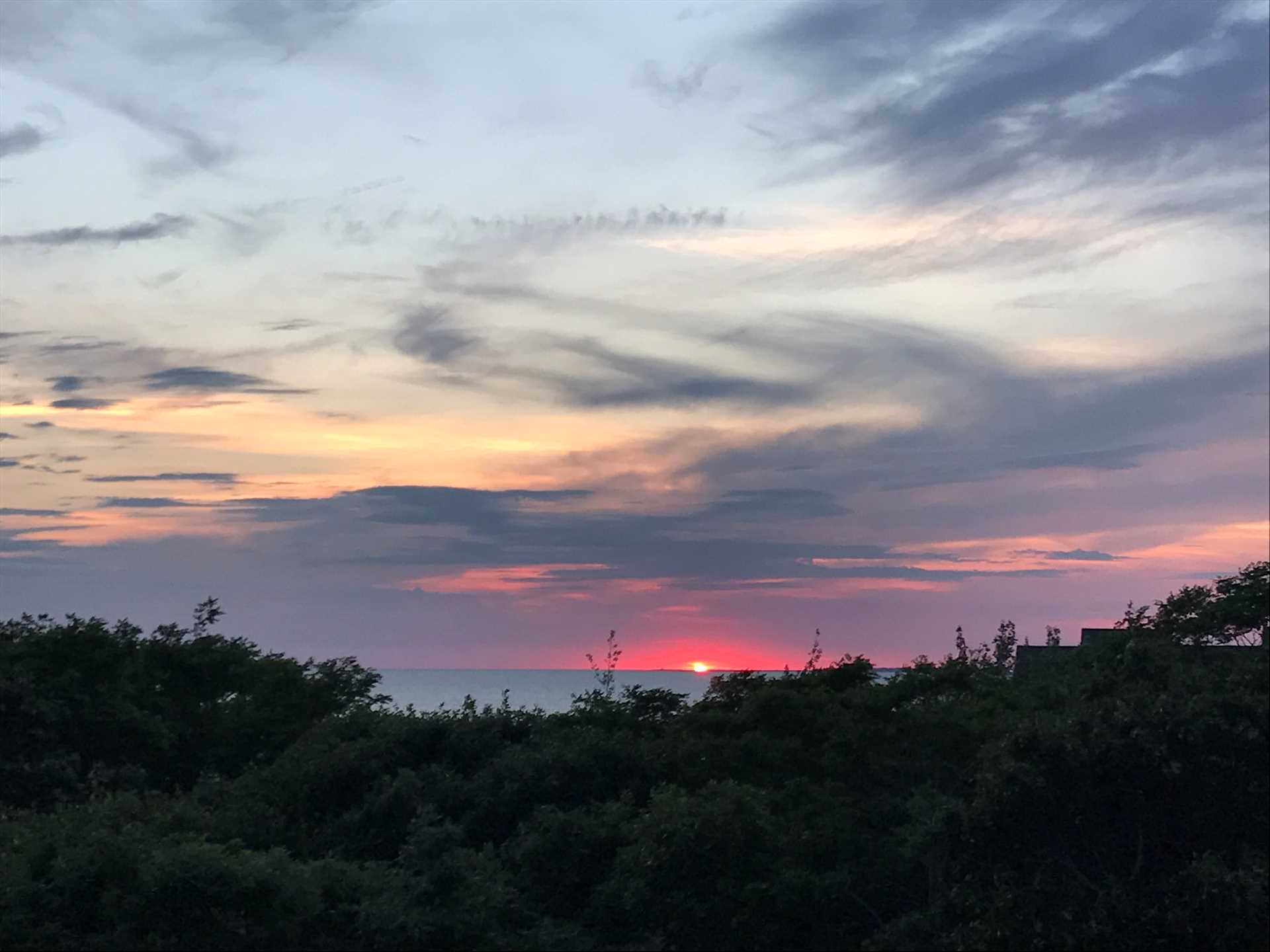 Beautiful Sunsets right from your Deck!